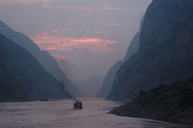 crepuscolo sullo Yangtze