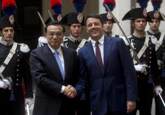 Renzi meets Premier of the State Council of China Li Keqiang