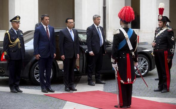 Renzi meets Premier of the State Council of China Li Keqiang