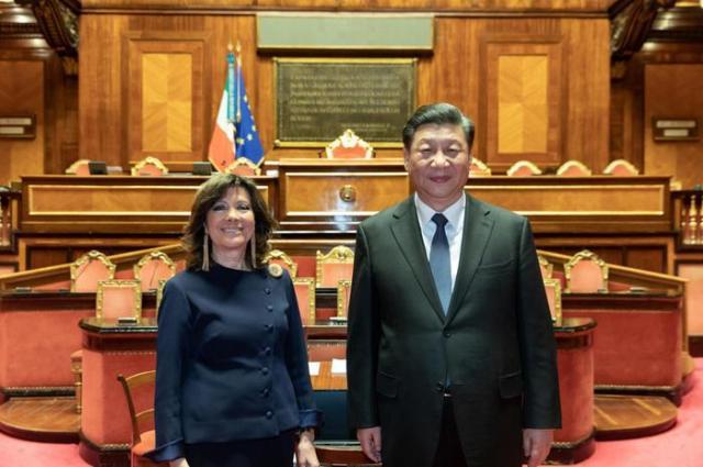++ Casellati a Xi,sua visita segno vicinanza a Parlamento ++