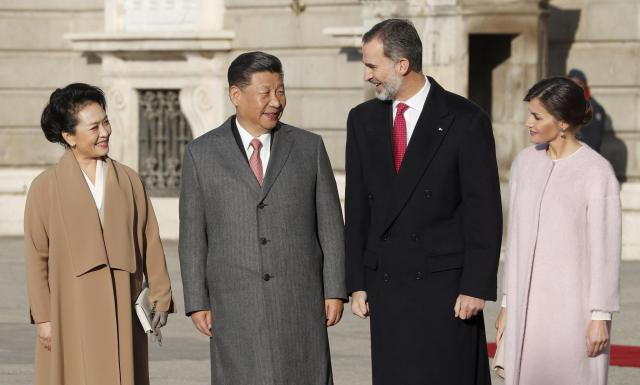 Chinese President Xi Jinping in Madrid