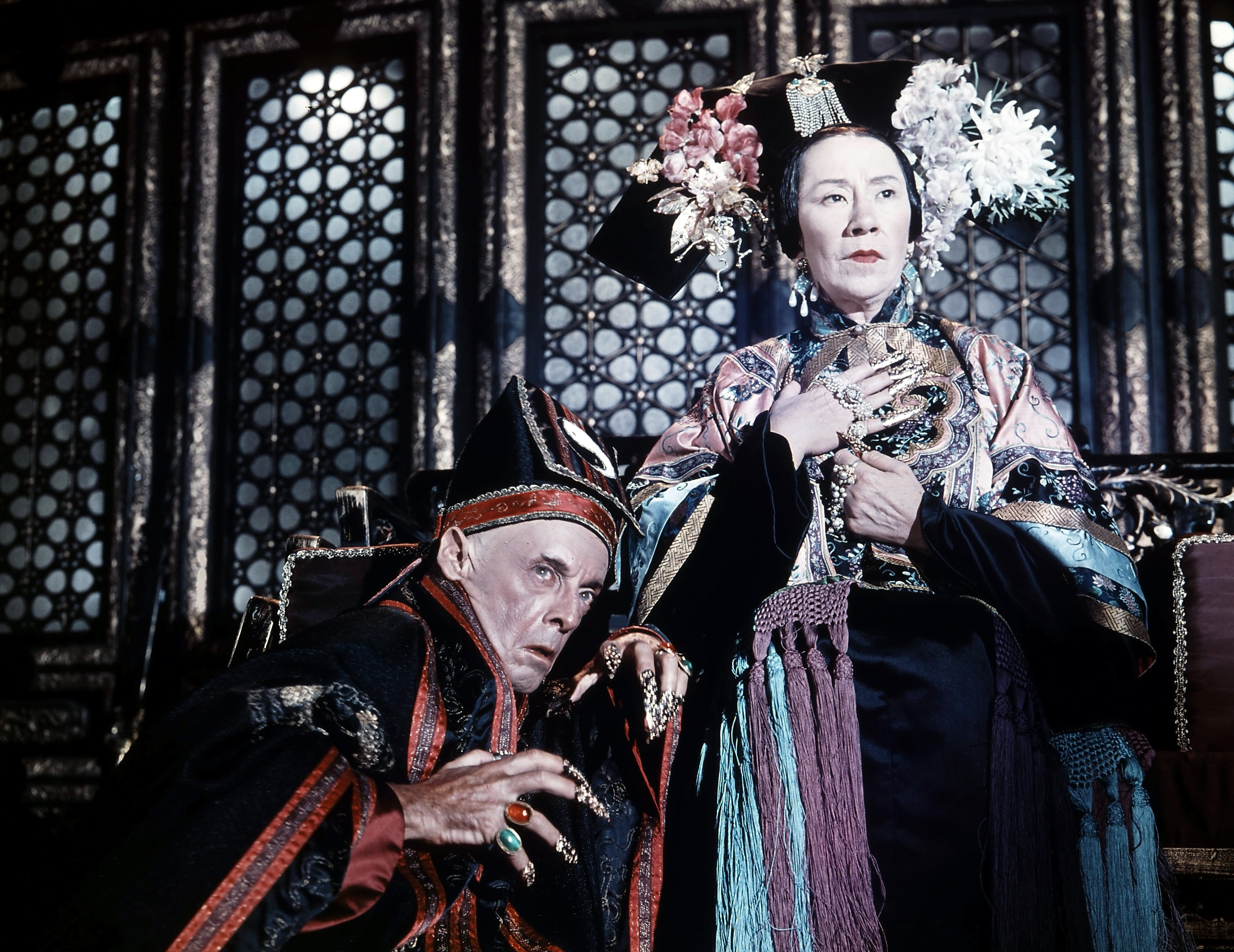 Robert Helpmann And Flora Robson In '55 Days At Peking'